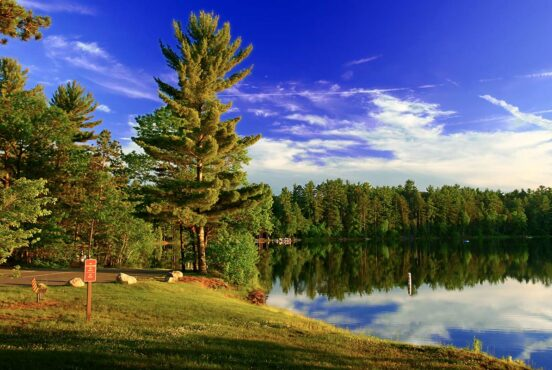 best lake camping wisconsin