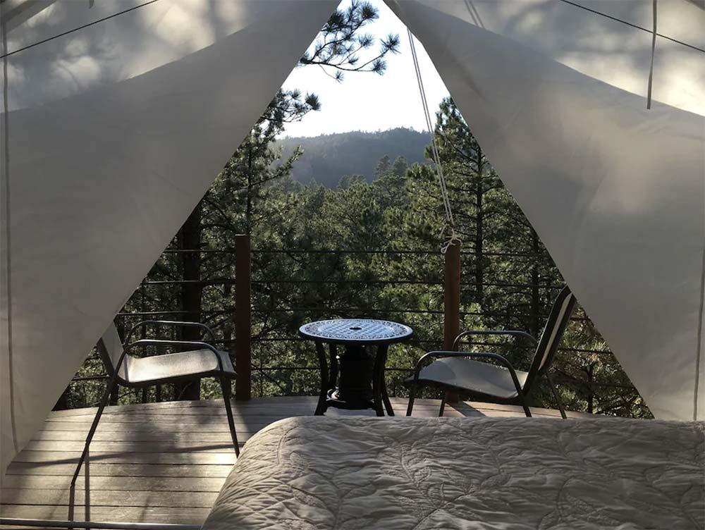 black hills glamping tent