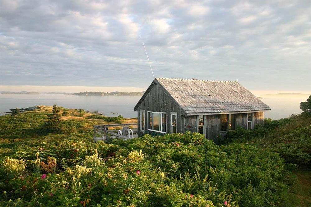 oak island maine secluded cabin