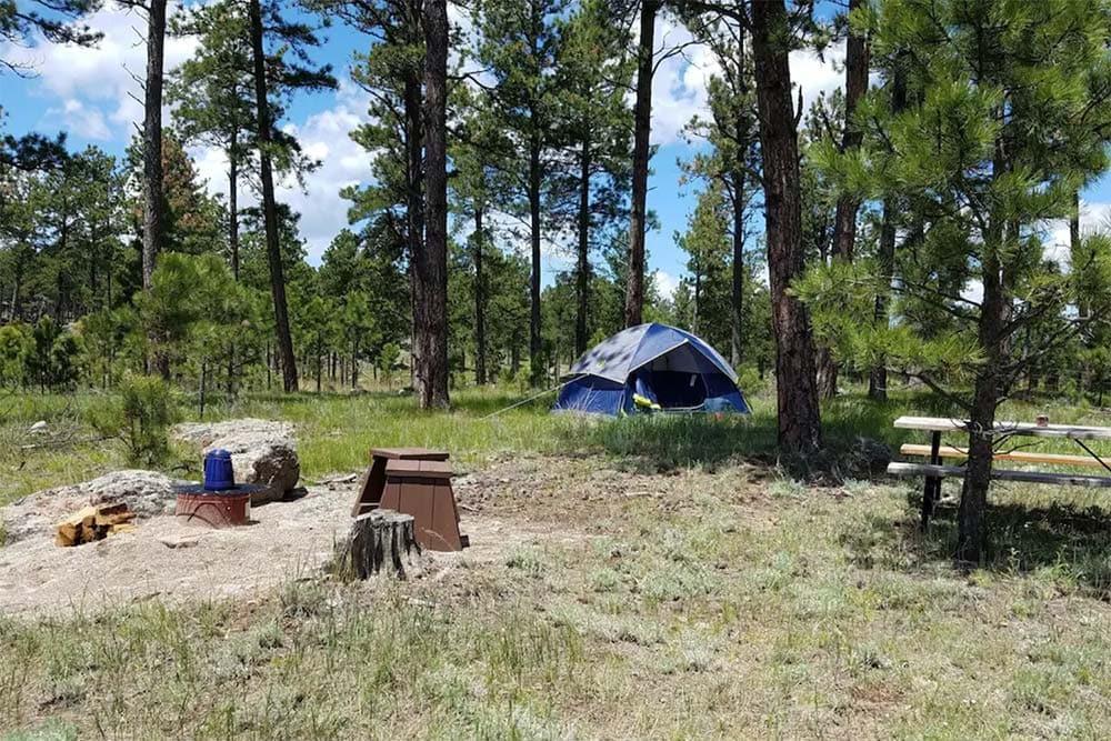 south dakota glamping campsite
