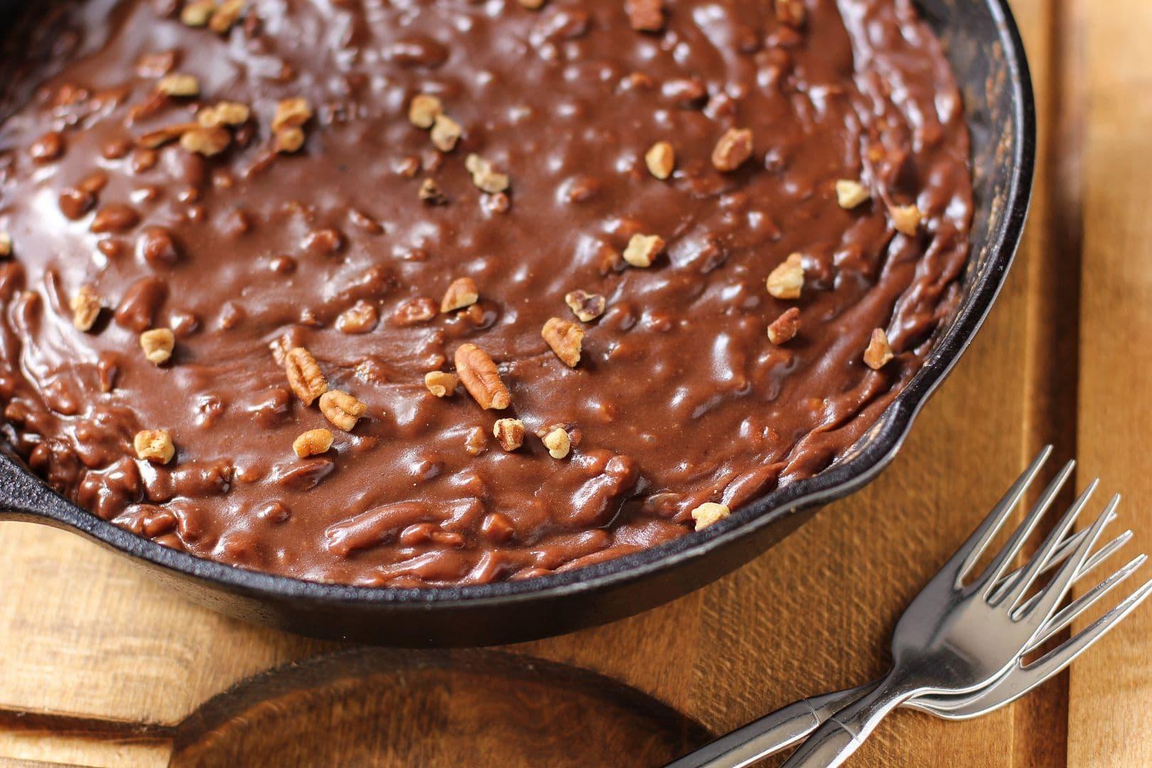 Gooey Chocolate Skillet Cake