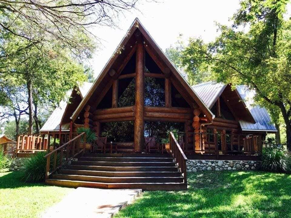 The Vaughn luxury log home