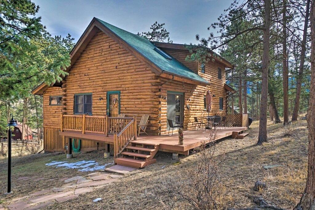 estes park log cabin