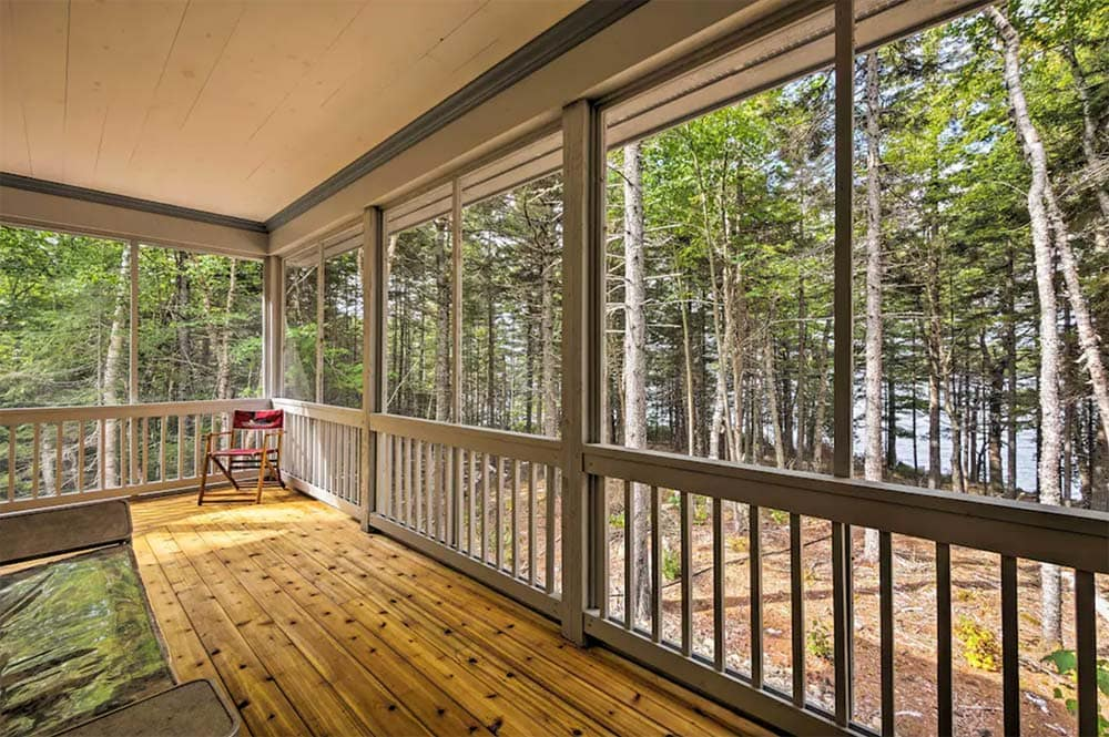 maine vacation rental wraparound porch