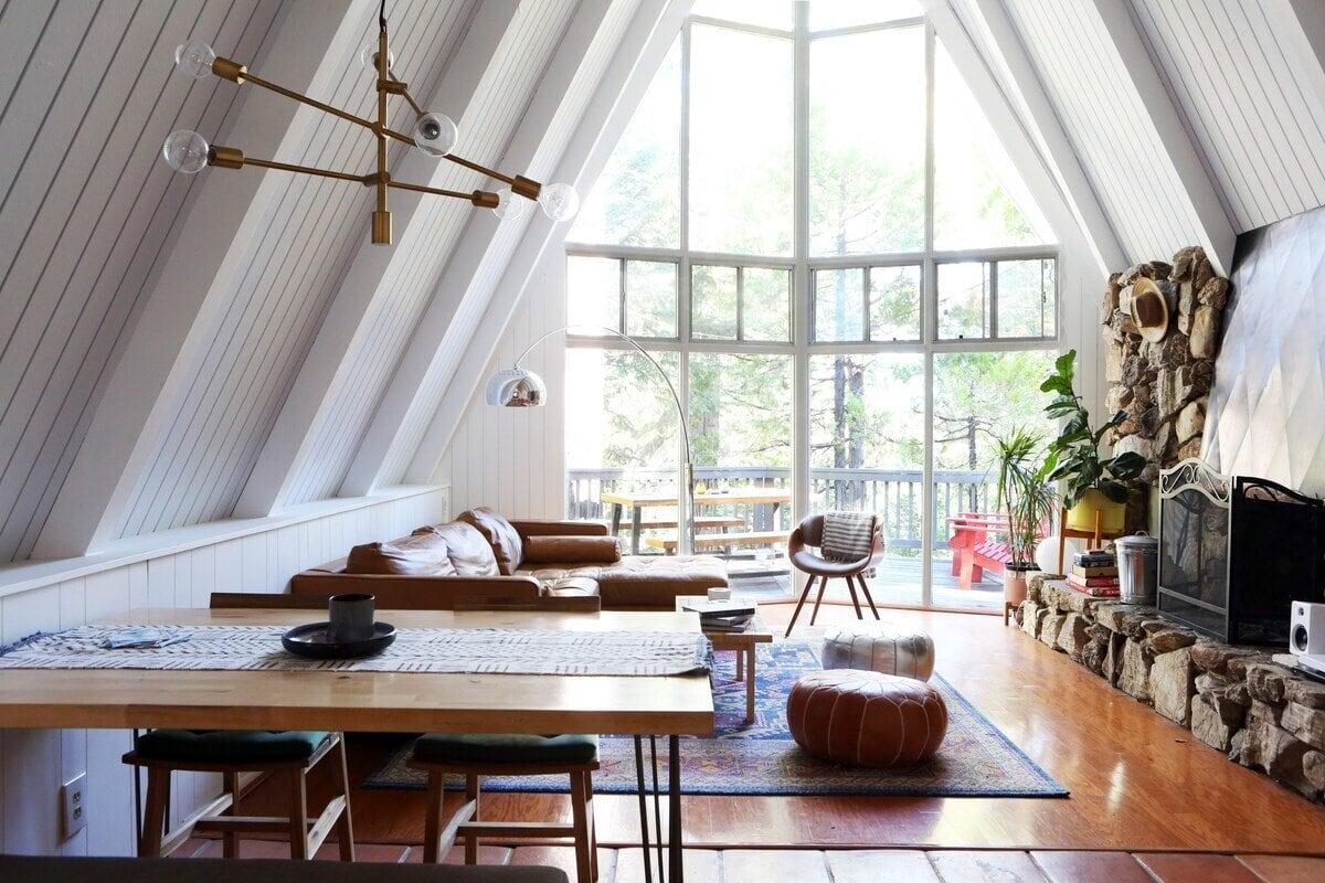 modern a-frame airbnb lake arrowhead