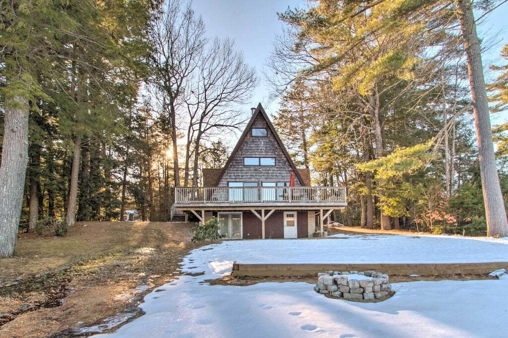 new hampshire a-frame cabin rental
