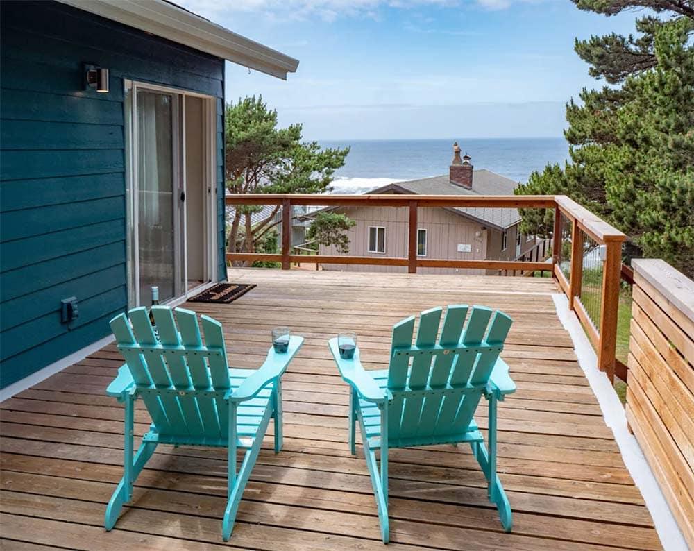 oceanview oregon coast cabin