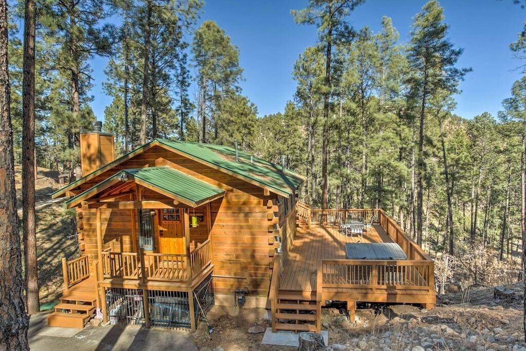 secluded ruidoso cabin