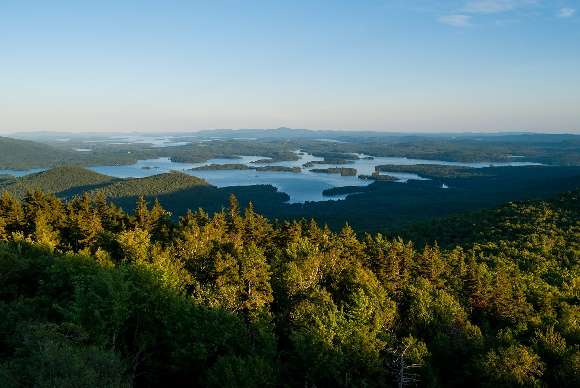 Scenic view of the lakes region of New Hampshire