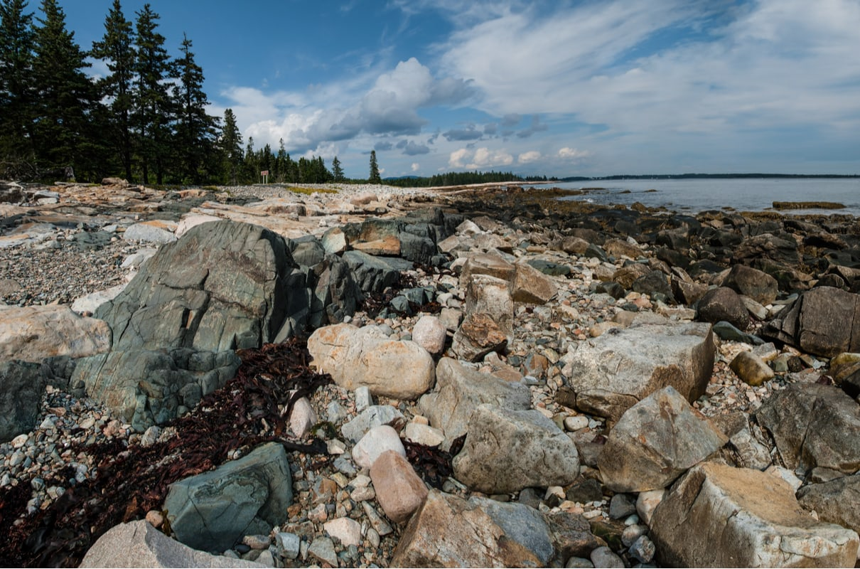 oceanfront campground in maine Seawall