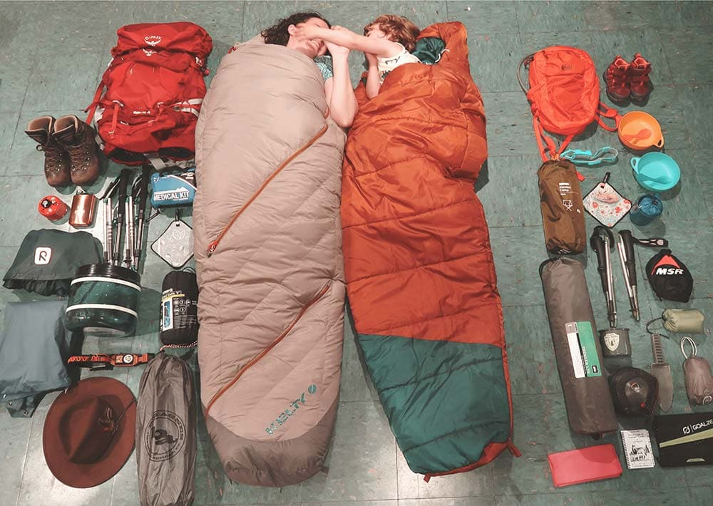 backpacking with kids prep