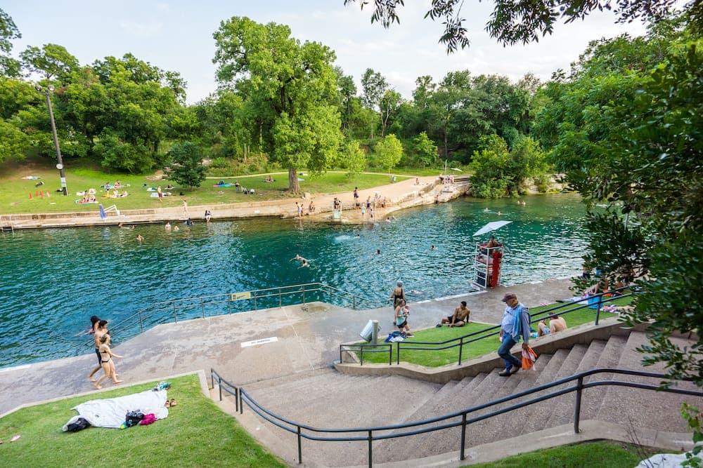 barton springs pool Austin swimming