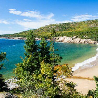 beach camping new england