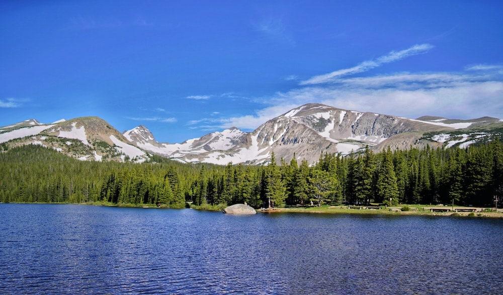 Colorado swimming Brainard Lake
