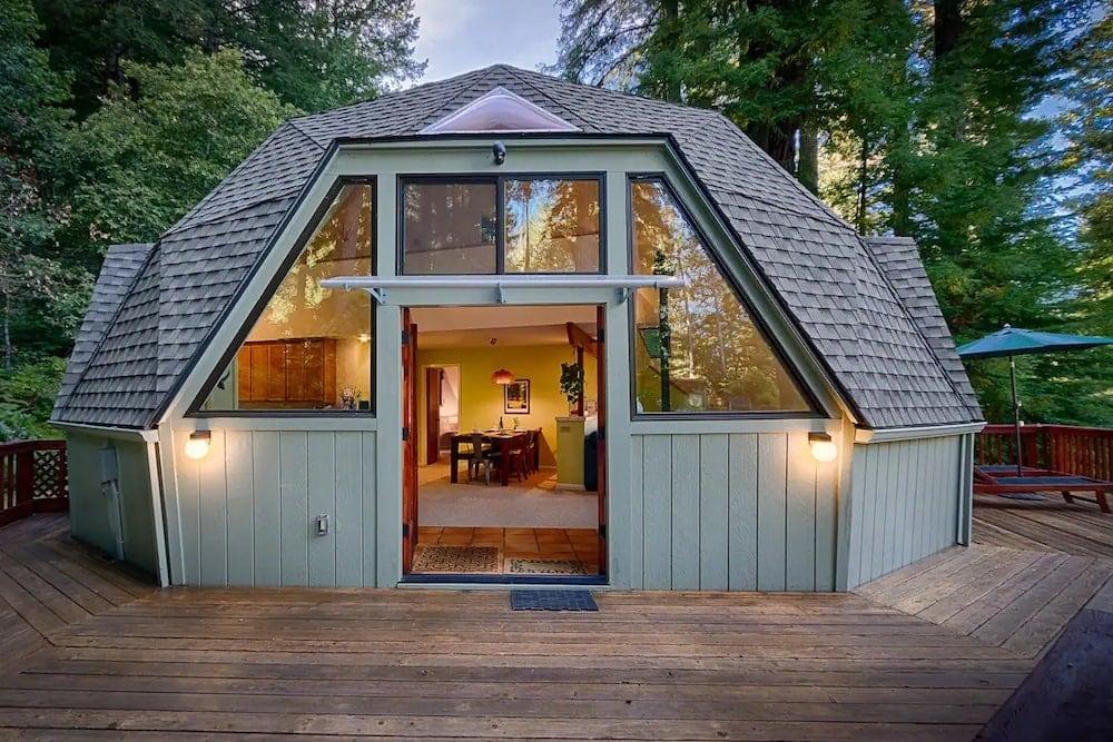 redwood dome home
