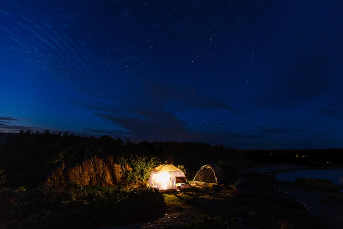 hermit island oceanfront camping