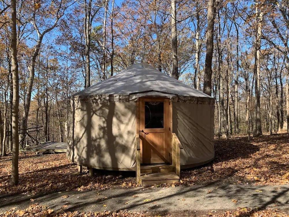 camp cedar point yurt Illinois glamping
