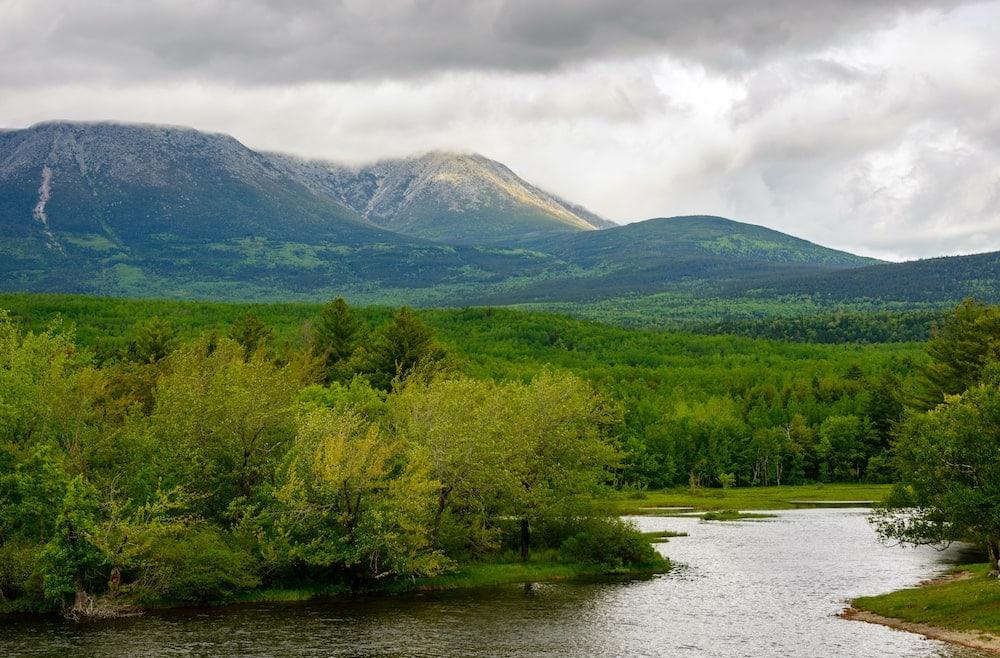 katahdin woods and waters Maine drives
