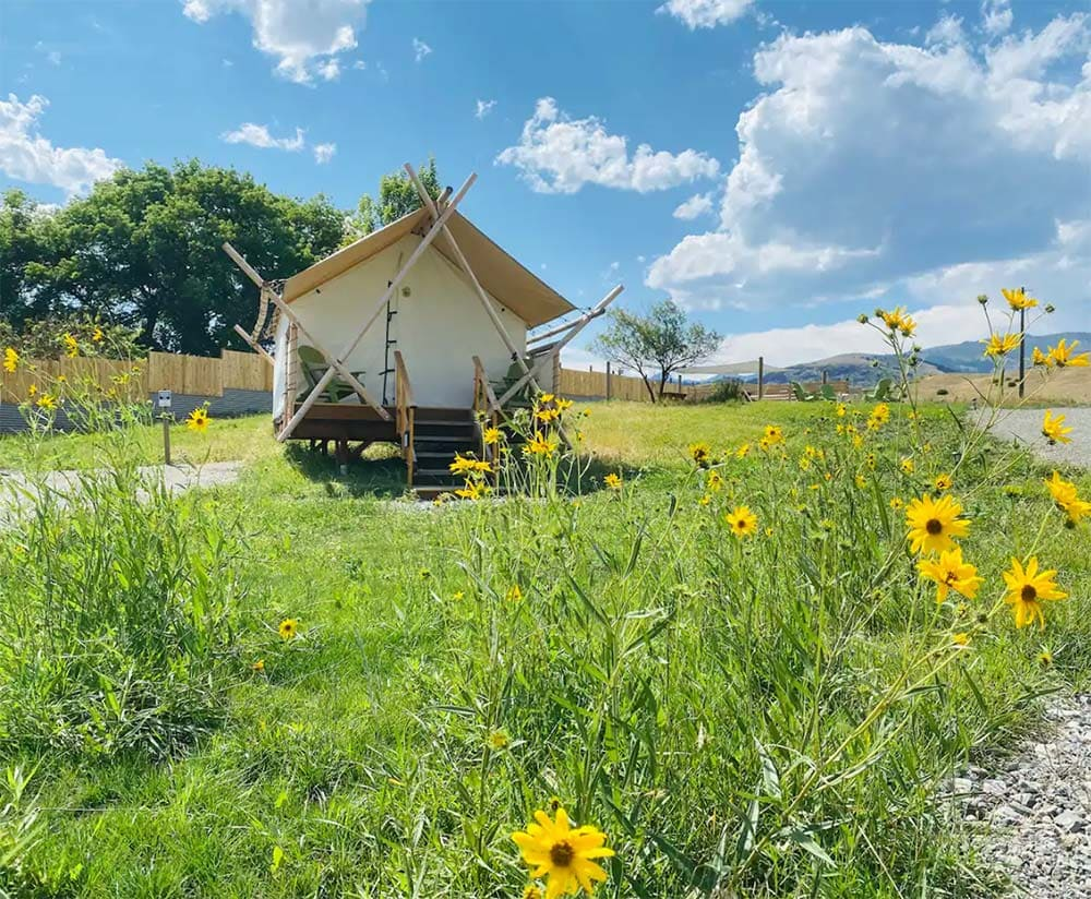 montana glamping tent