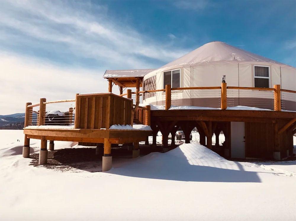 montana glamping yurt