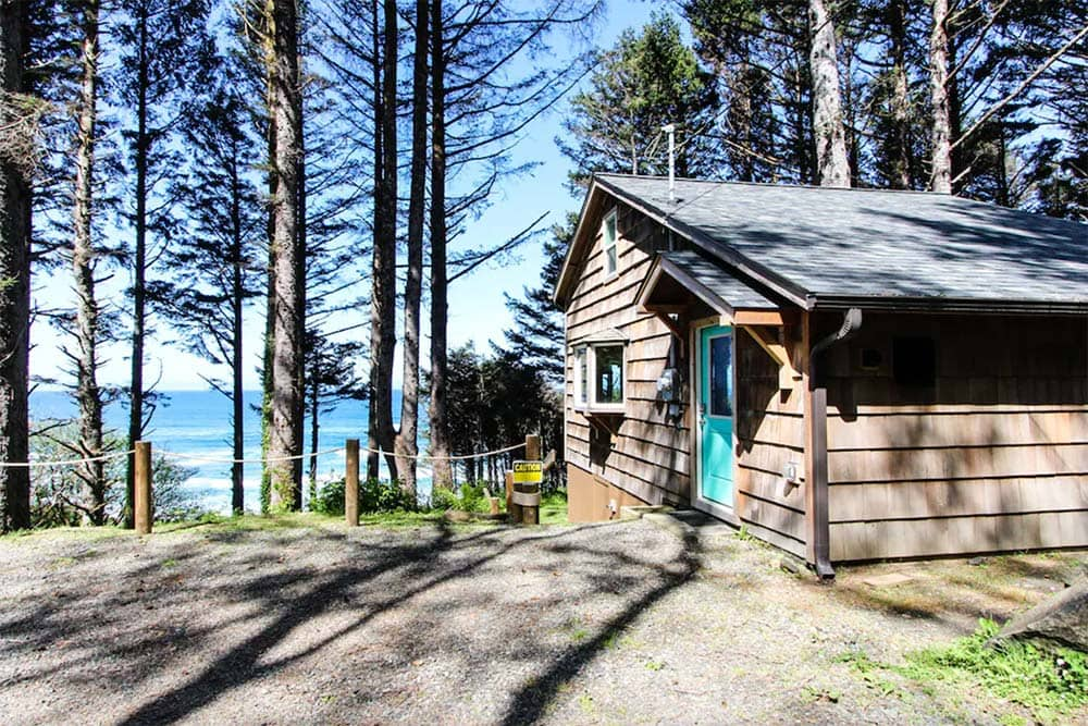 rustic oregon coast cabin rental