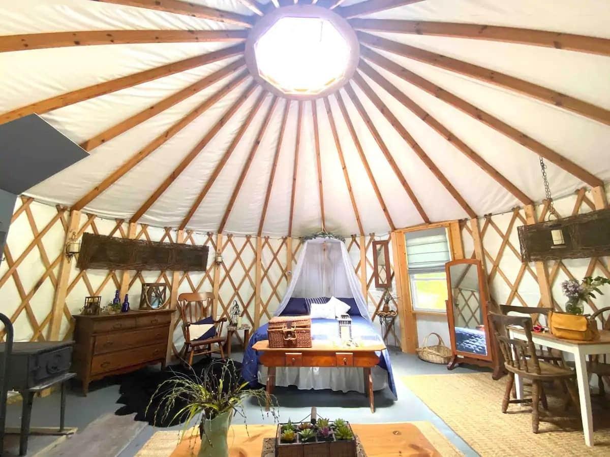 yurt homestead pennsylvania glamping