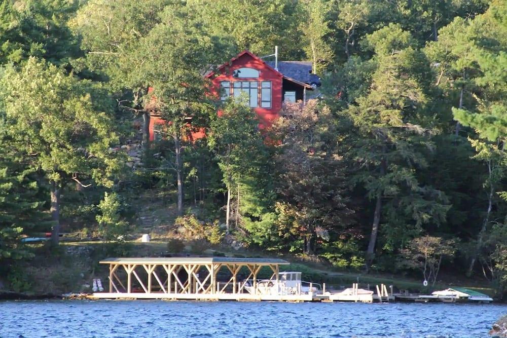 large lakefront home adirondacks