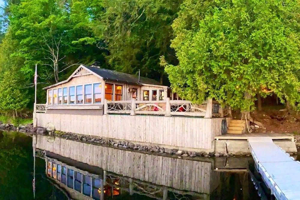 lake Simond boat house adirondacks
