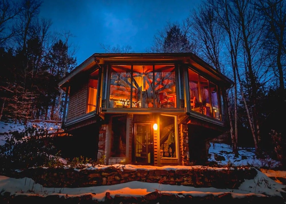 Berkshires glass treehouse airbnb