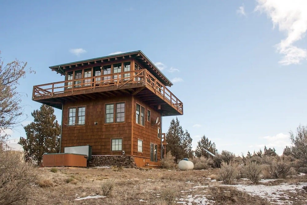 cozy lookout tower airbnb