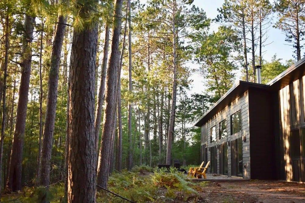 modern lake house airbnb