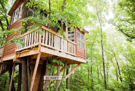 best treehouse rentals missouri