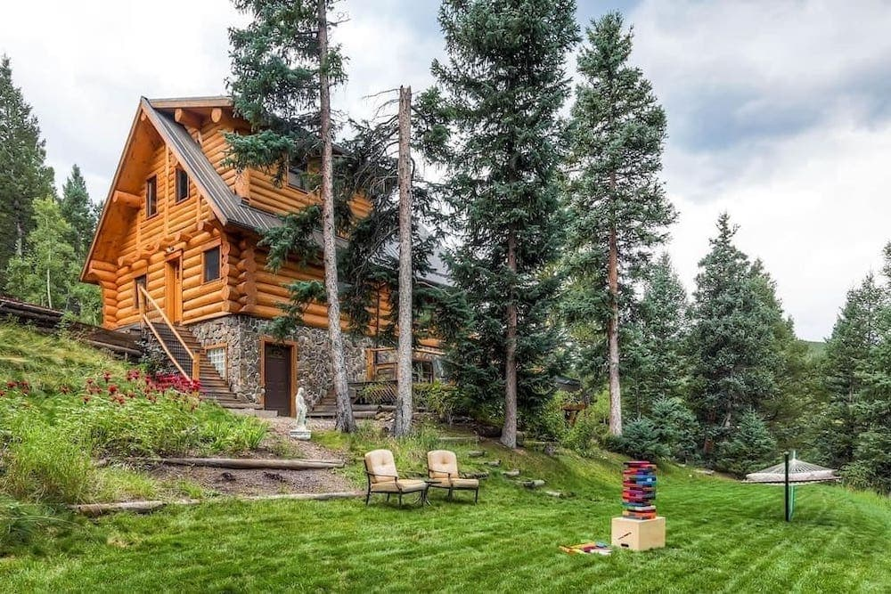 log cabin on the river colorado hot tub