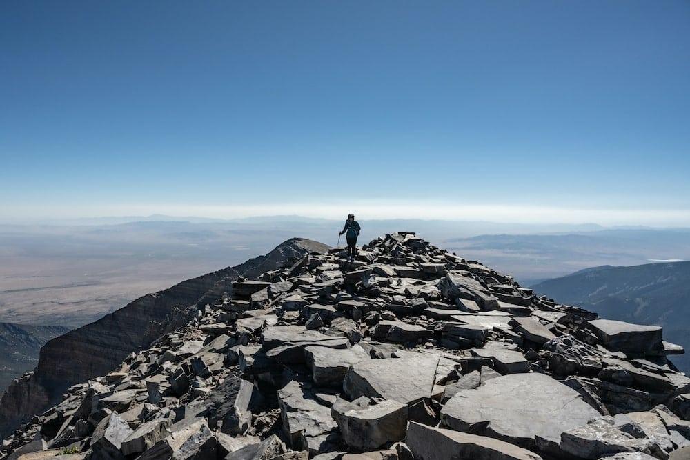 Great Basin wheeler peak summit
