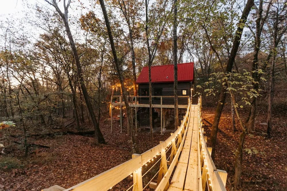 The Tranquil Treehouse on Table Rock Lake Missouri