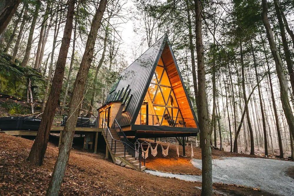 Dunlap hollow a-frame Ohio cabin