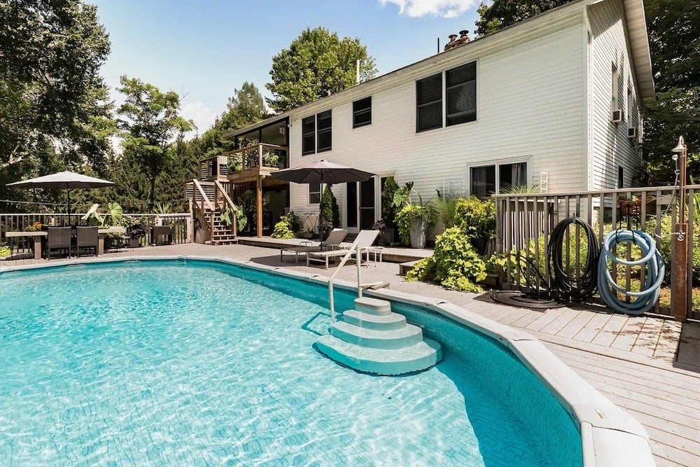 rhinebeck country living airbnb with pool