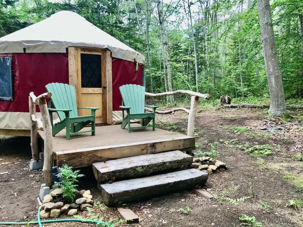 chebeague island yurt maine
