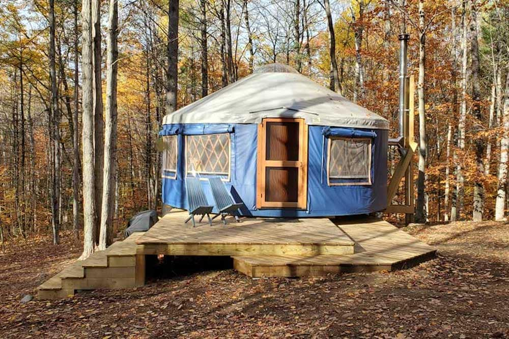 frost mountain yurts maine