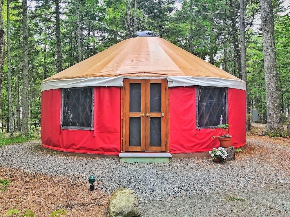 acadia yurts maine