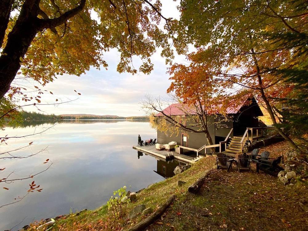 The Boathouse on Fourth Lake adirondacks