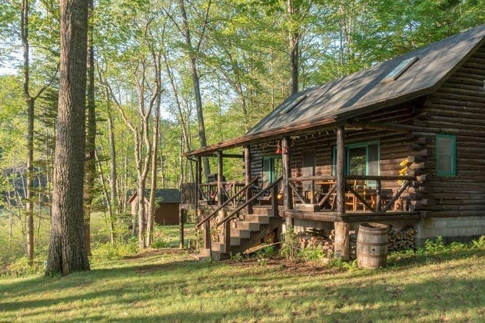 Lake Pleasant Log Cabin adirondacks