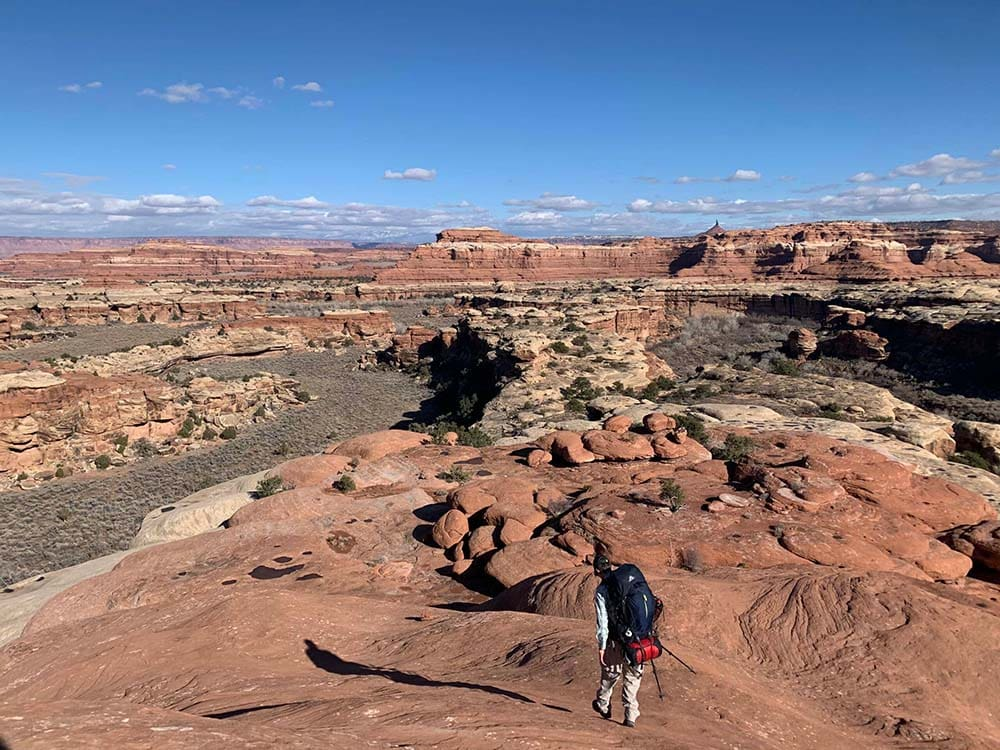 backpacking canyonlands needles district