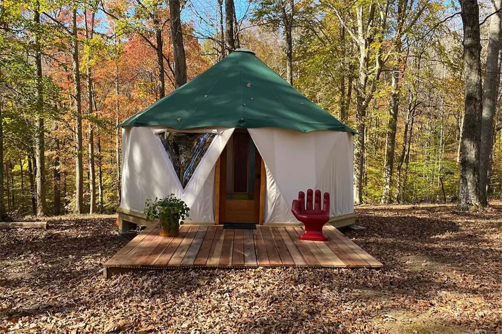 kentucky yurt airbnb