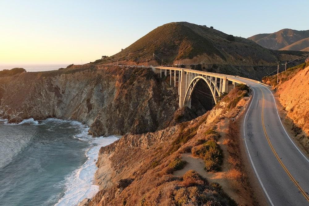 Los Angeles San Francisco road trip big sur bixby bridge