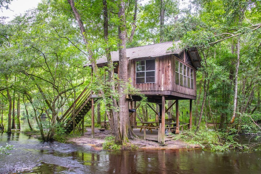 Rustic Treehouse Camping in the Great Outdoors South Carolina