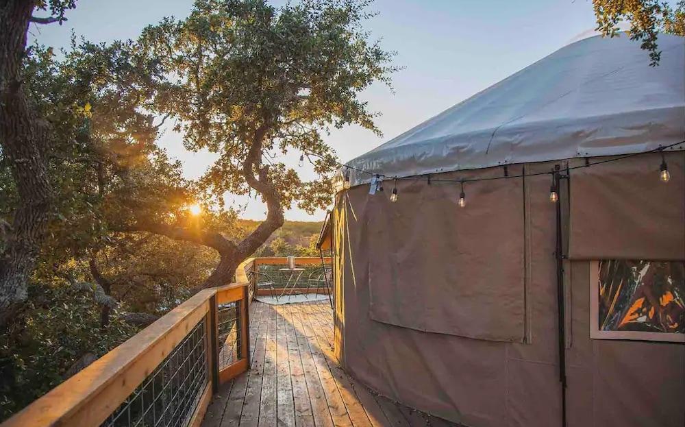Yurt in the Trees texas