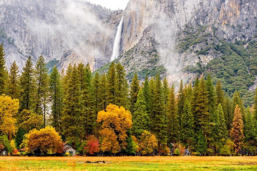 Yosemite california fall