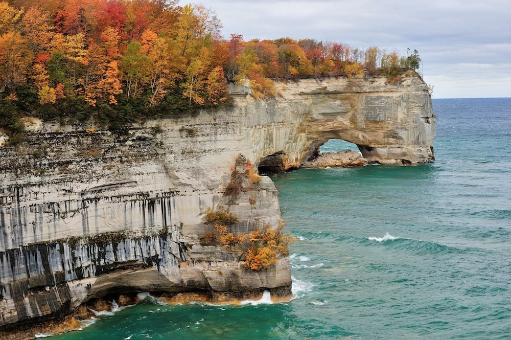 Pictured Rocks National Lakeshore fall colors Michigan