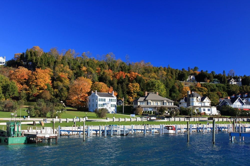 Mackinac Island fall colors Michigan